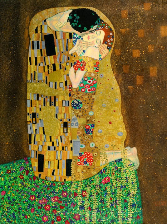 Gustav Klimt – The Kiss – 1907-8