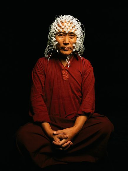 monk with eeg